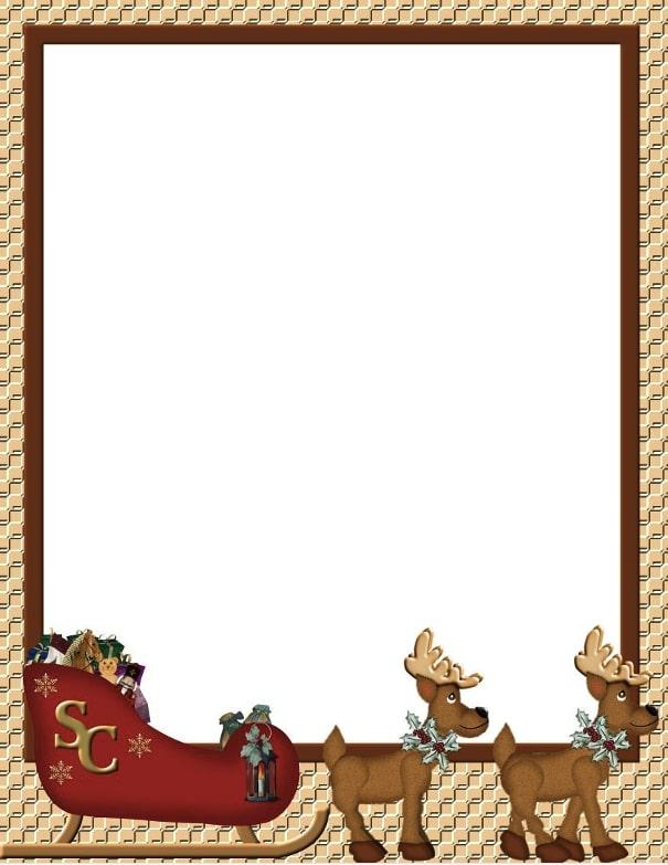 bordes navideños para tarjetas