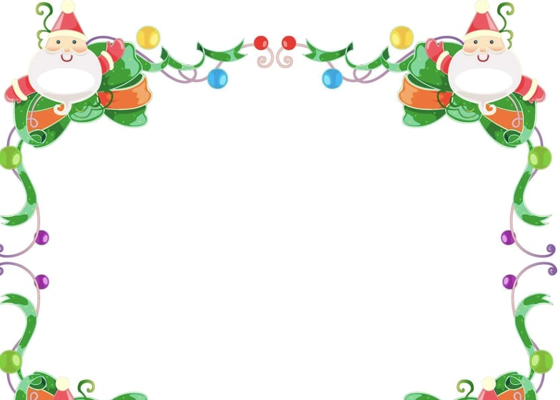 bordes navideños para niños