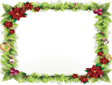 bordes decorativos navideños para tarjetas