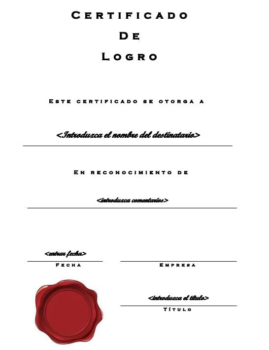 Certificados de Aprovechamiento