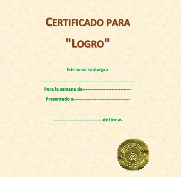 diploma de aprovechamiento
