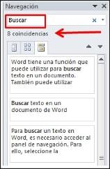 Cómo encontrar texto en Word-2