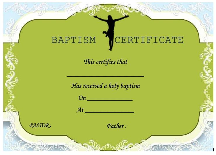 certificado de bautismo actualizado
