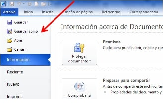 convertir Word a PDF paso 2