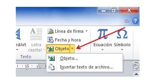 insertar un archivo de Word 4